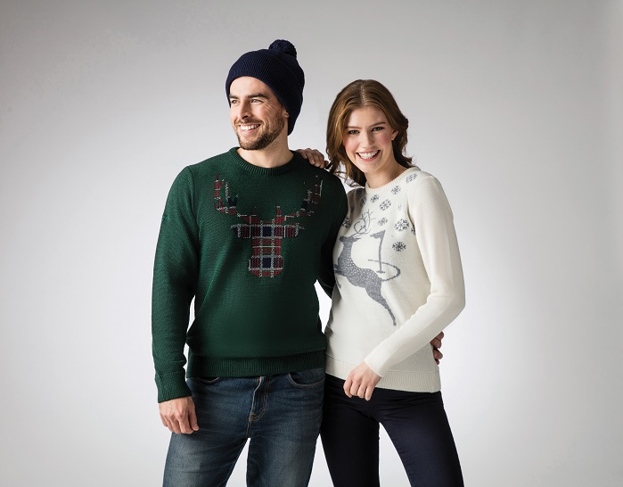 Glenmuir has created, for the first time in its 130-year history, a collection of Christmas jumpers. © Glenmuir