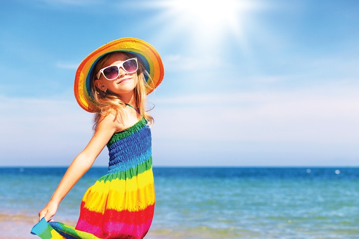 Children are known to be particularly vulnerable to the harmful effects of sun exposure. © Huntsman Textile Effects