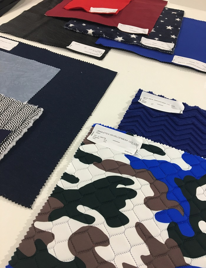 Fabrics at Texworld USA. © Wendy Friedman