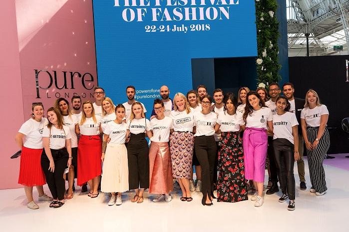 Pure London team. © Pure London