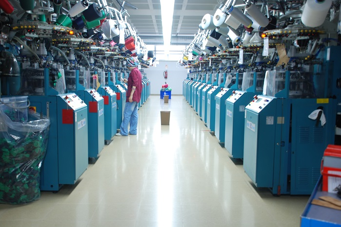 Oztas has increased its capacity by realizing a significant machinery investment this year. © Oztas Socks