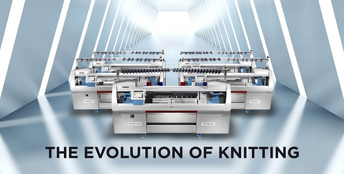 "Last year, Stoll and Myant announced a strategic collaboration that they say will ""populate functional computing textile manufacturing in Canada and the US, with 500 state-of-the-art knitting machines from Stoll"". © Myant"
