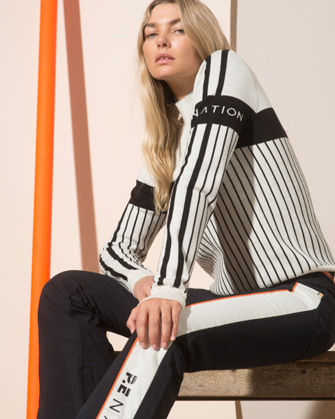 Jess Hart fronts the P.E Nation x Woolmark collection. © The Woolmark Company/P.E Nation