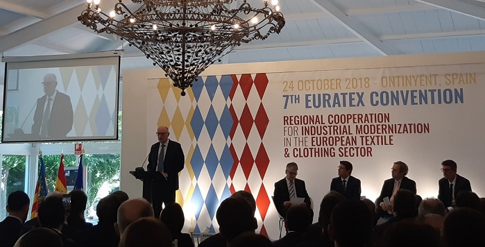 The 7th Euratex Convention was organised on 24 October in Ontinyent, Valencia, Spain. © Euratex