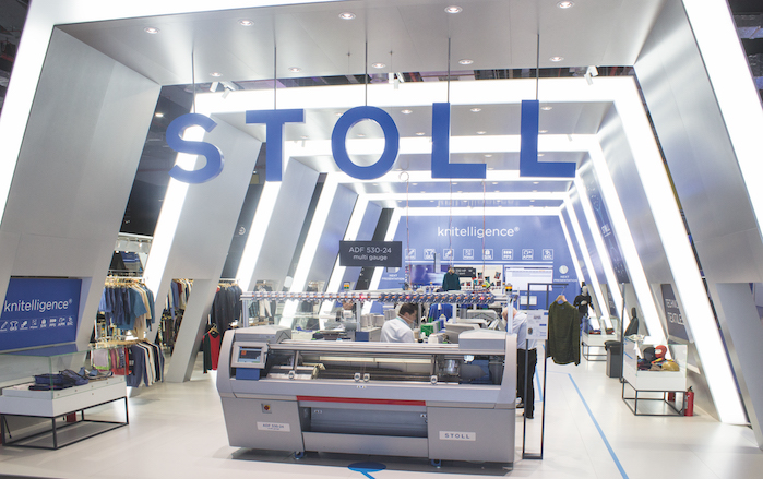 The company's booth was entirely dedicated to knitelligence, Stoll's new software solution and a highlight in the ever-growing range of Stoll Software Solutions.