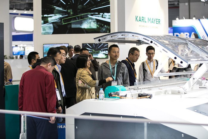 Karl Mayer welcomed 760 visitors at last month's ITMA Asia + CITME. © Karl Mayer