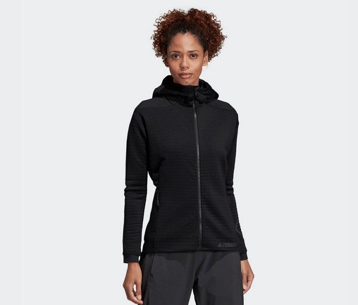 The Polartec Power Air Hoody is now available from adidas. © adidas