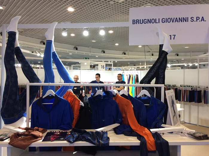 Brugnoli exhibited its Br4 range of bio-based fabrics. © Knitting Industry