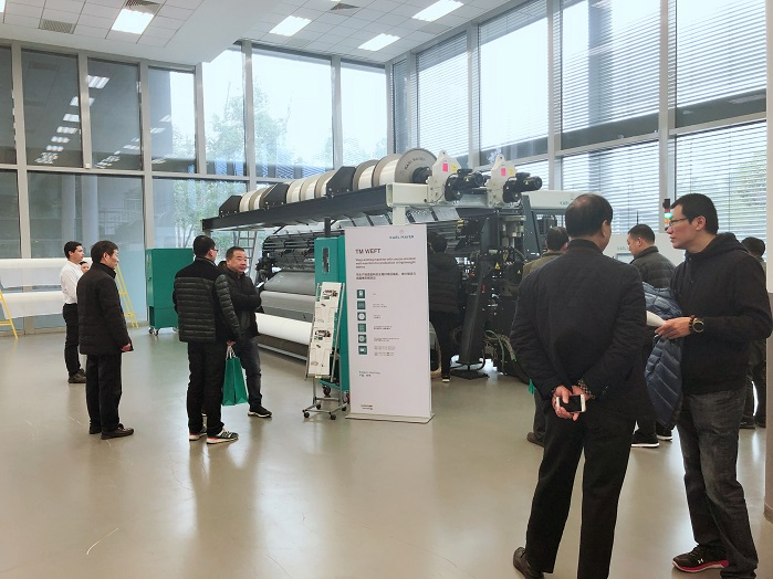 Karl Mayer launched new warp knitting machine with weft insertion this week. © Karl Mayer