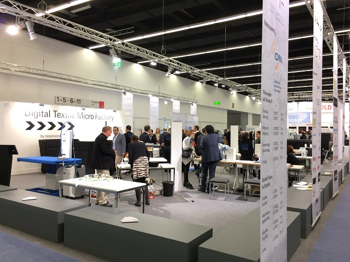 Digital Textile Micro Factory at Texprocess 2017. © Knitting Industry