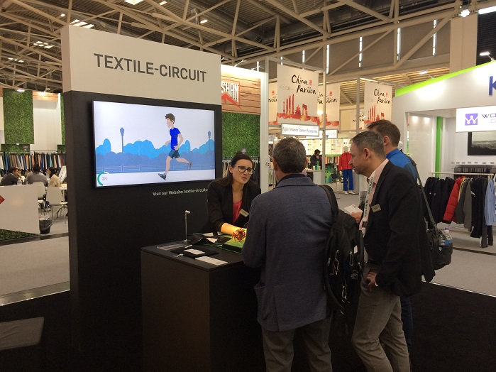 Textile-circuit project works on established warp knitting technology to produce highly innovative e-textiles. © Knitting Industry