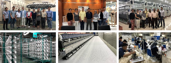 Eurovet and suPPPort visited lingerie and textile factories in Indonesia in November 2018. © Eurovet