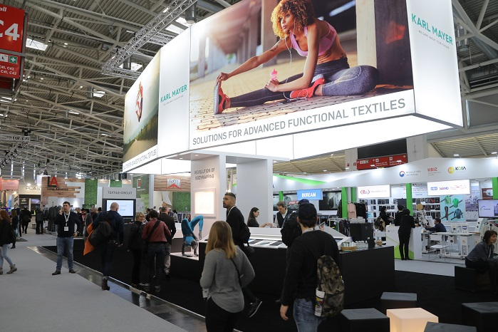 The Textile Circuit and Textile Makerspace were the topic of many conversations held at ISPO last month. © Karl Mayer