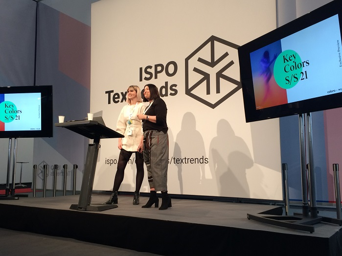 Joanne Thomas, Head of Content at Coloro, and Clare Varga, Director Active (Sport) at WGSN. © Knitting Industry