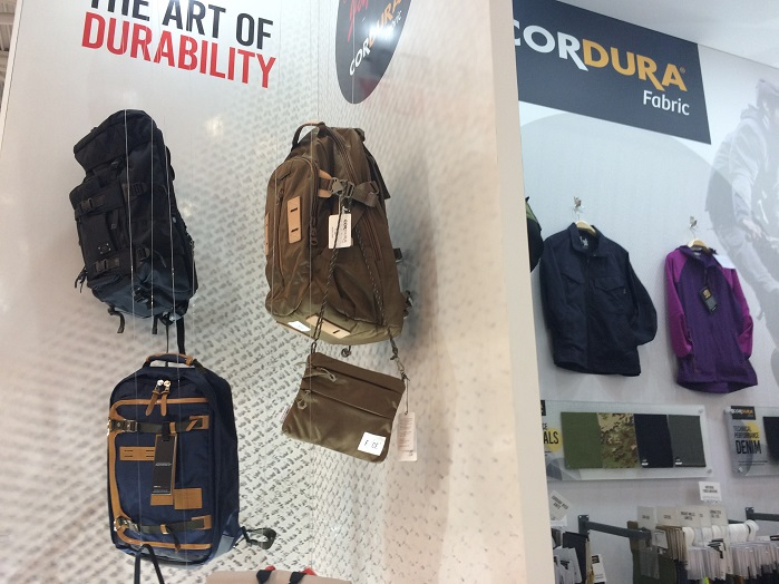 Crafted in Japan display by Cordura. © Knitting Industry