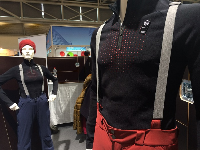 clim8's thermal sensors technology in garments by Odlo. © Knitting Industry