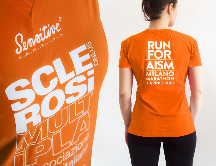 Eurojersey will be donating 300 T-shirts carrying the message 'Run for AISM'. © Eurojersey