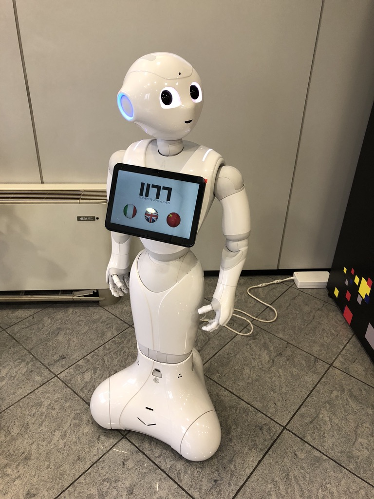 Pepper the robot that speaks 19 languages. © Knitting Industry