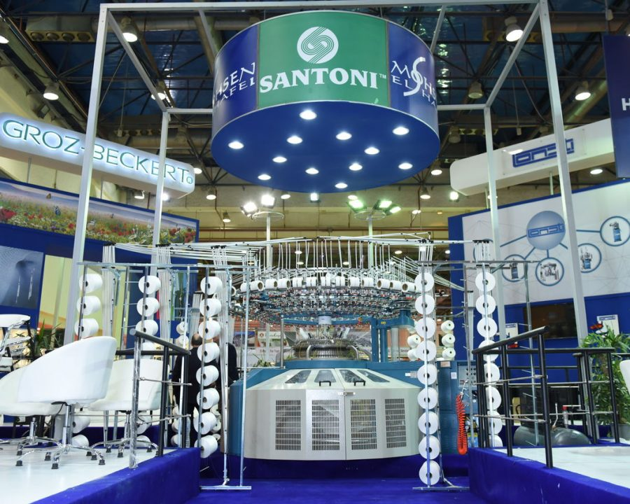 Italian company Santoni produces circular knitting machines. © Stitch & Tex Expo – Afro Edition