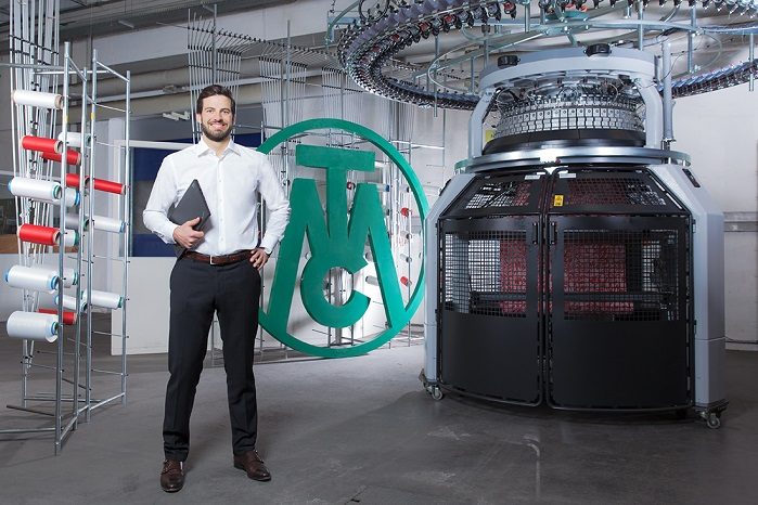 Sebastian Mayer is in charge of corporate development at the circular knitting machine company, so taking digitisation forward at the family-owned firm is one of his core responsibilities. © Mayer & Cie.