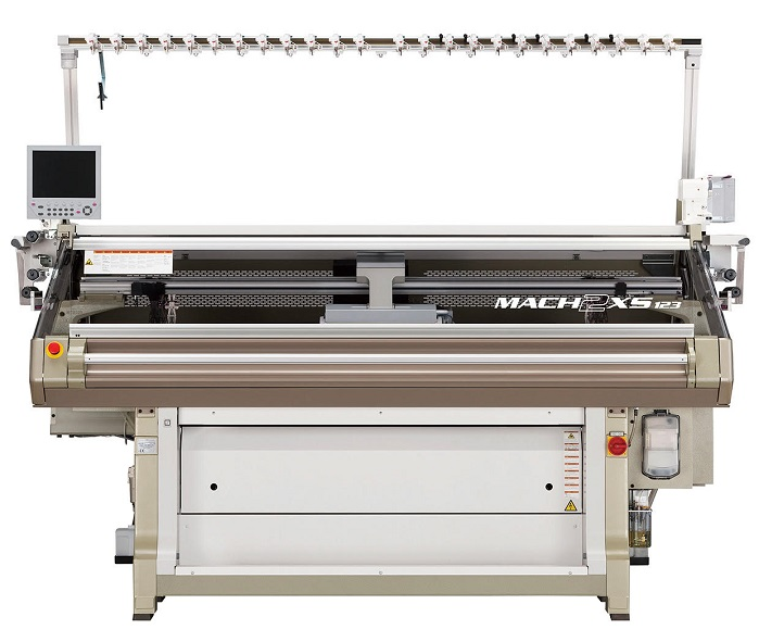 MACH2XS 123 Wholegarment computerised flat knitting machine. © Shima Seiki