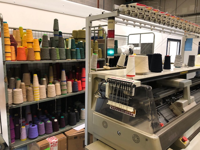 Corah Textiles has a few Shima Seiki flat knitting machines in 8 and 12 gauge. © Corah Textiles