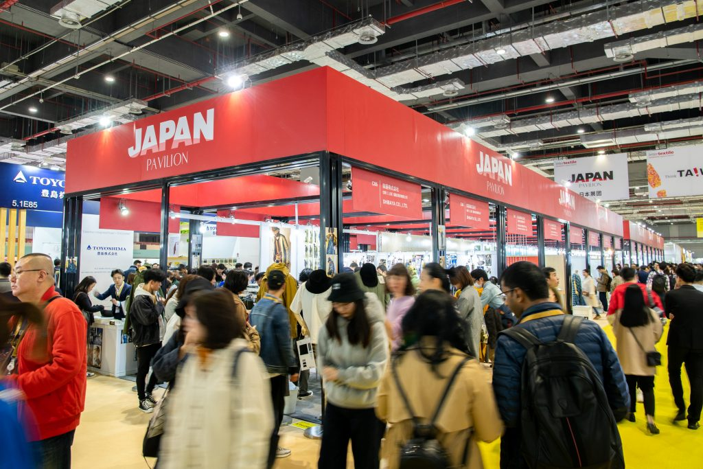 The most recent Japan Pavilion drew large crowds at Intertextile Shanghai. © Intertextile Shanghai