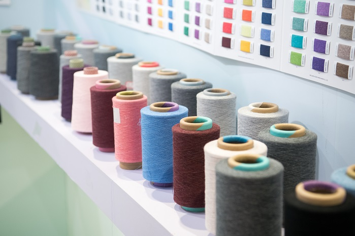 Satisfied buyers reported a diverse variety of products. © Messe Frankfurt / Yarn Expo Spring edition
