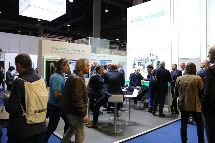 Karl Mayer attracted crowds at this month's Techtextil. © Karl Mayer