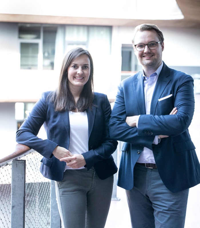 The Managing Directors of the KM.ON Antonia Gottschalk and Maximilian Kürig. © Karl Mayer