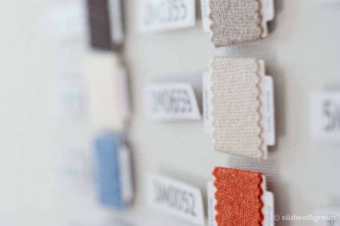 Fabric samples. © Südwolle Group