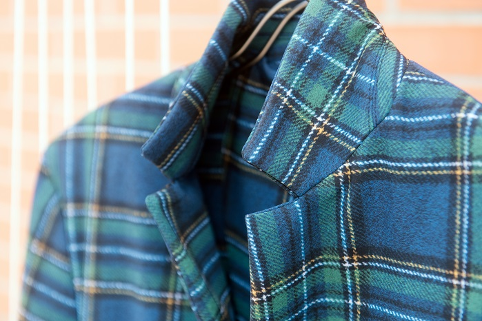 Tartan print on Sensitive Fabrics. © Eurojersey
