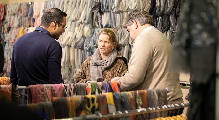 Apparel Sourcing Paris and Shawls&Scarves constitute an impressive business platform for visitors and exhibitors. © Messe Frankfurt France