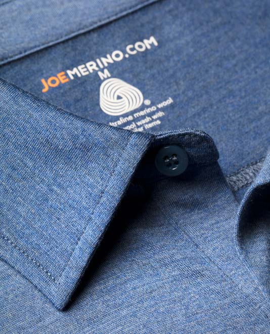 The Joe T is made with 100% ultrafine Merino wool. © Joe Merino