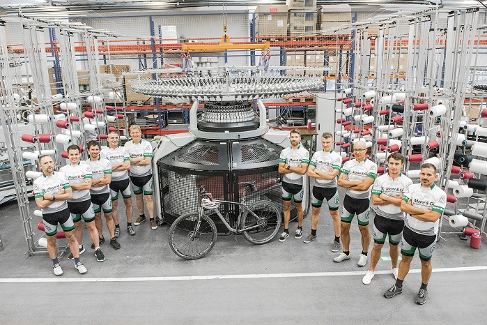 It was the third time in succession that the town's circular knitting machine manufacturer entered a team. © Mayer & Cie.