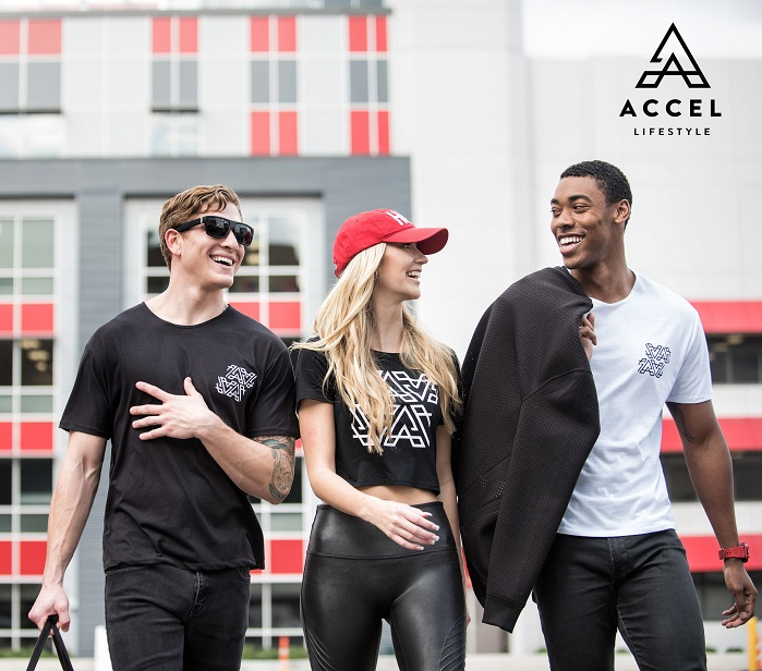 The Accel tees and tanks are soft, lightweight, high-performance staples. © PRNewsfoto/Accel Lifestyle