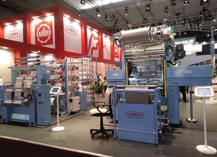 Comez crochet warp knitting machines.© Comez