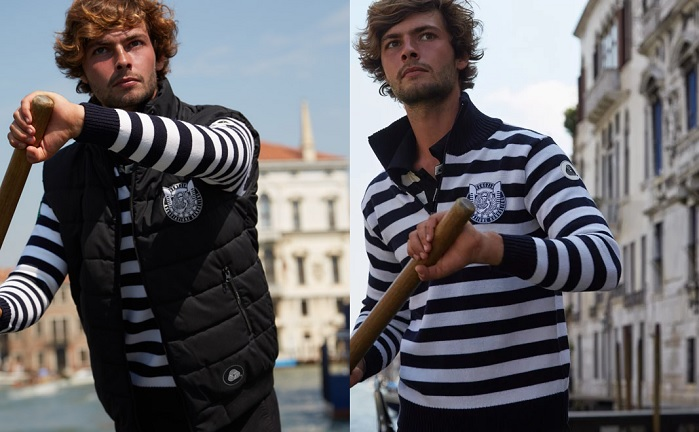 Venice's gondoliers recognised for their return to wool in the iconic uniforms. © The Association of Venetian Gondoliers/The Woolmark Company