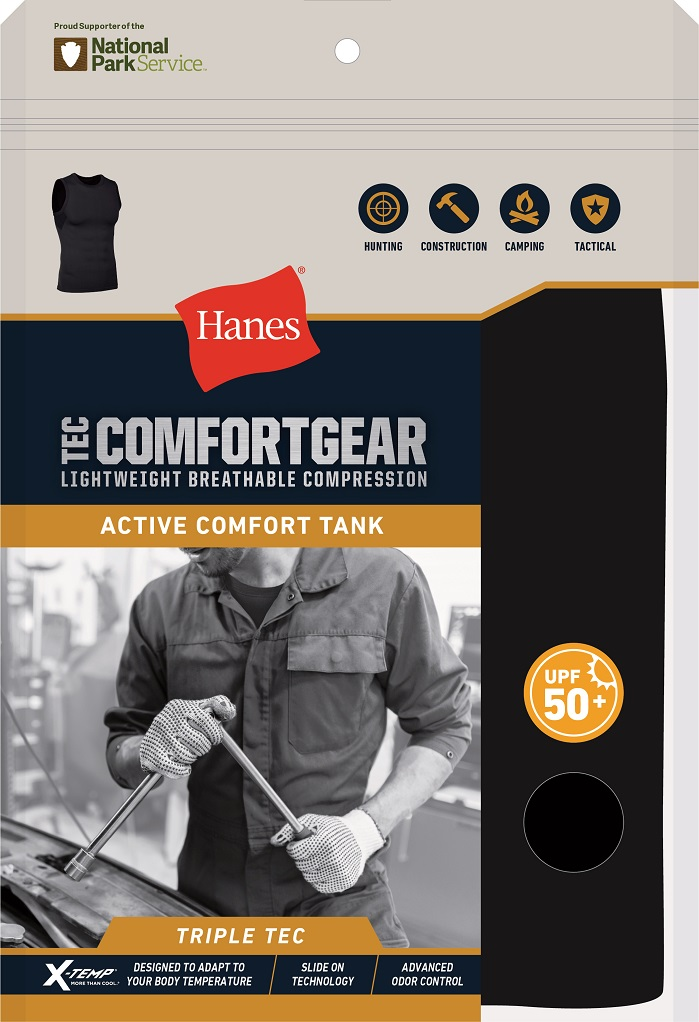 Tank is the latest addition to the brand's Tec ComfortGear collection. © Hanes