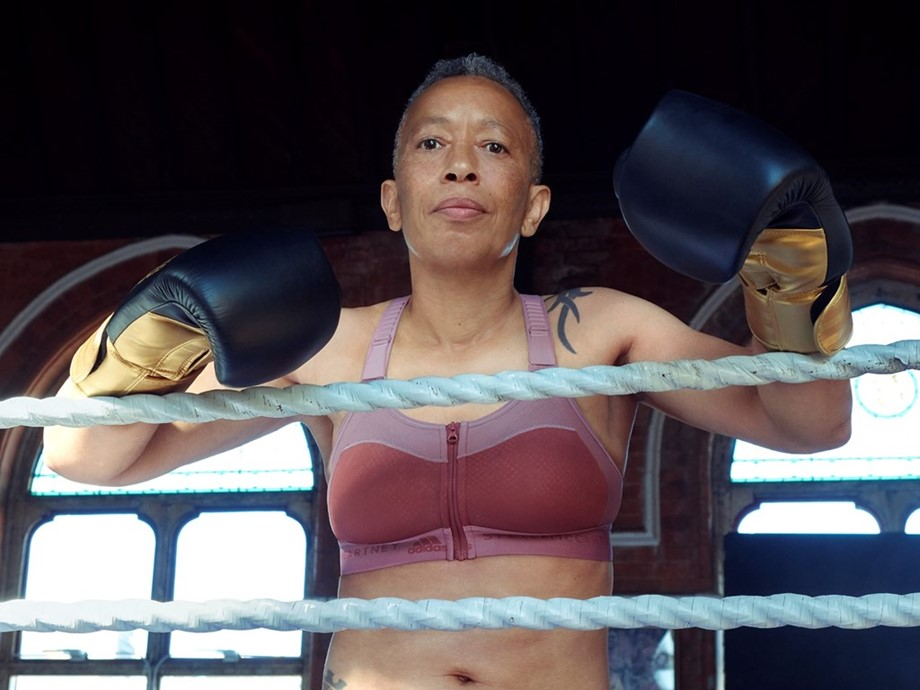 British professional boxer Michele Aboro is a breast cancer survivor, mother and mentor. © adidas