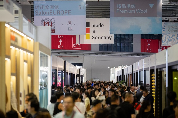 4,422 exhibitors from 33 countries and regions exhibited at the show. © Messe Frankfurt/ Intertextile Shanghai Apparel Fabrics