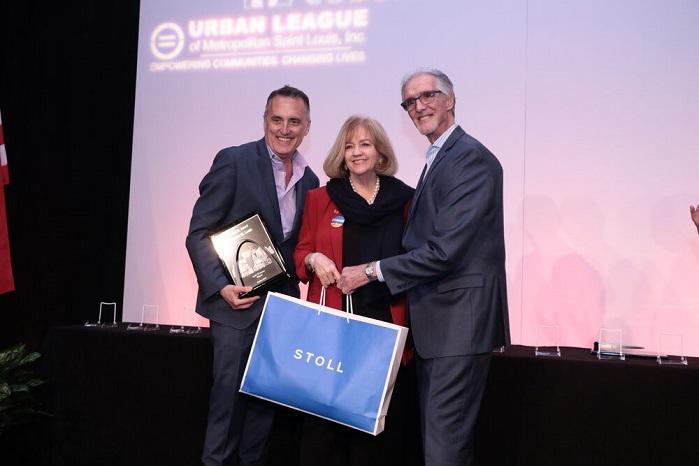 Jon Lewis, Mayor Lyda Krewson and John Elmuccio. © Maurice Meredith