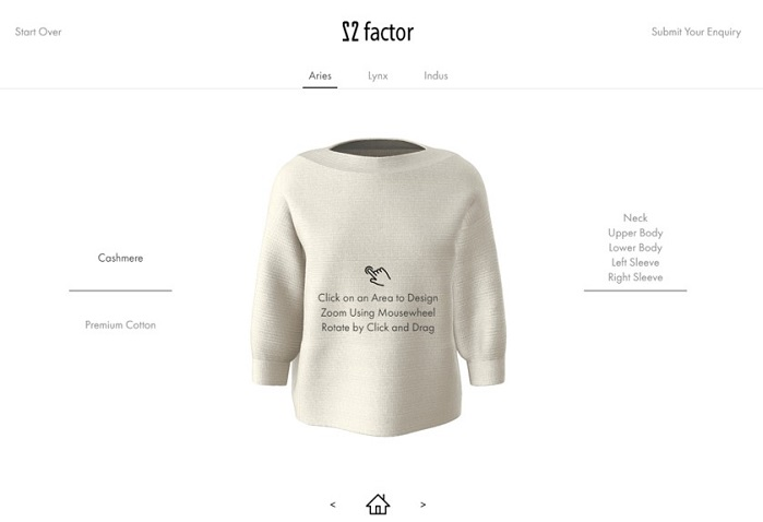 22 Factor uses upcycled virgin yarn from luxury fashion brands to create premium quality knitwear. © 22 Factor