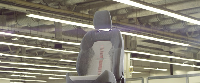 Ford is utilising the 3D knitting technology to produce seamless seat covers. © Ford Motor Company
