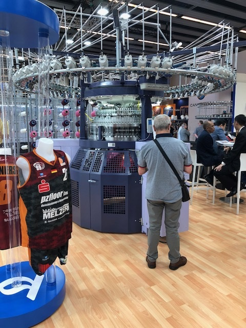 Terrot exhibiting at ITMA 2019. © Knitting Industry