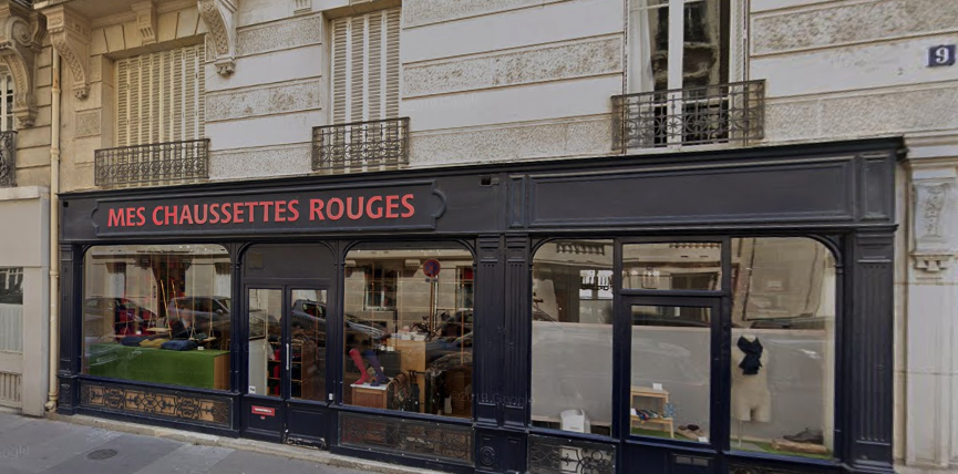 The Mes Chausettes Rouges shop on Rue César-Franck, just minutes from the Eiffel Tower. © Google Maps.