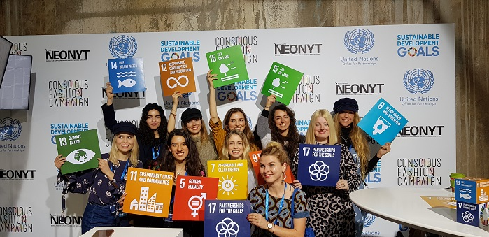 In January 2019 the Sustainable Development Goals were introduced to a Messe Frankfurt event for the first time. © Conscious Fashion Campaign
