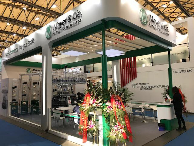 Chinese subsidiary Mayer & Cie. China (MCN) exhibited the new MFC 3.2 at its Shanghaitex stand. © Mayer & Cie.